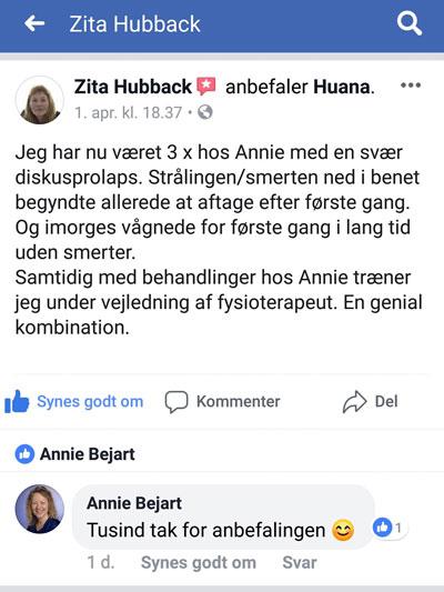 Om behandling hos Annie Bejart